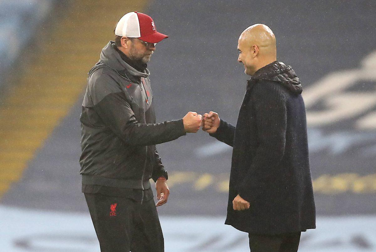Jürgen Klopp et Pep Guardiola