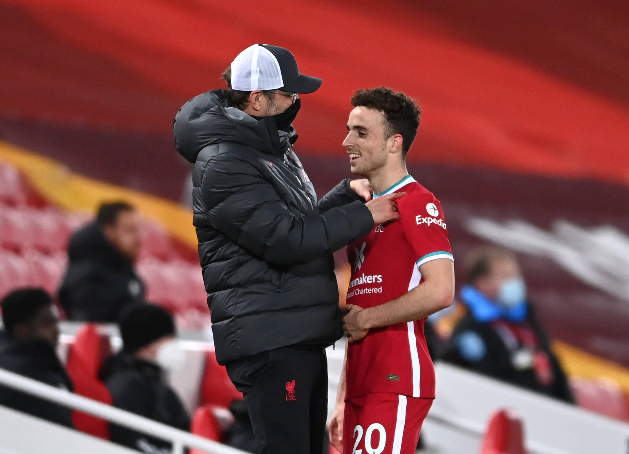 Diogo Jota et Jürgen Klopp Liverpool