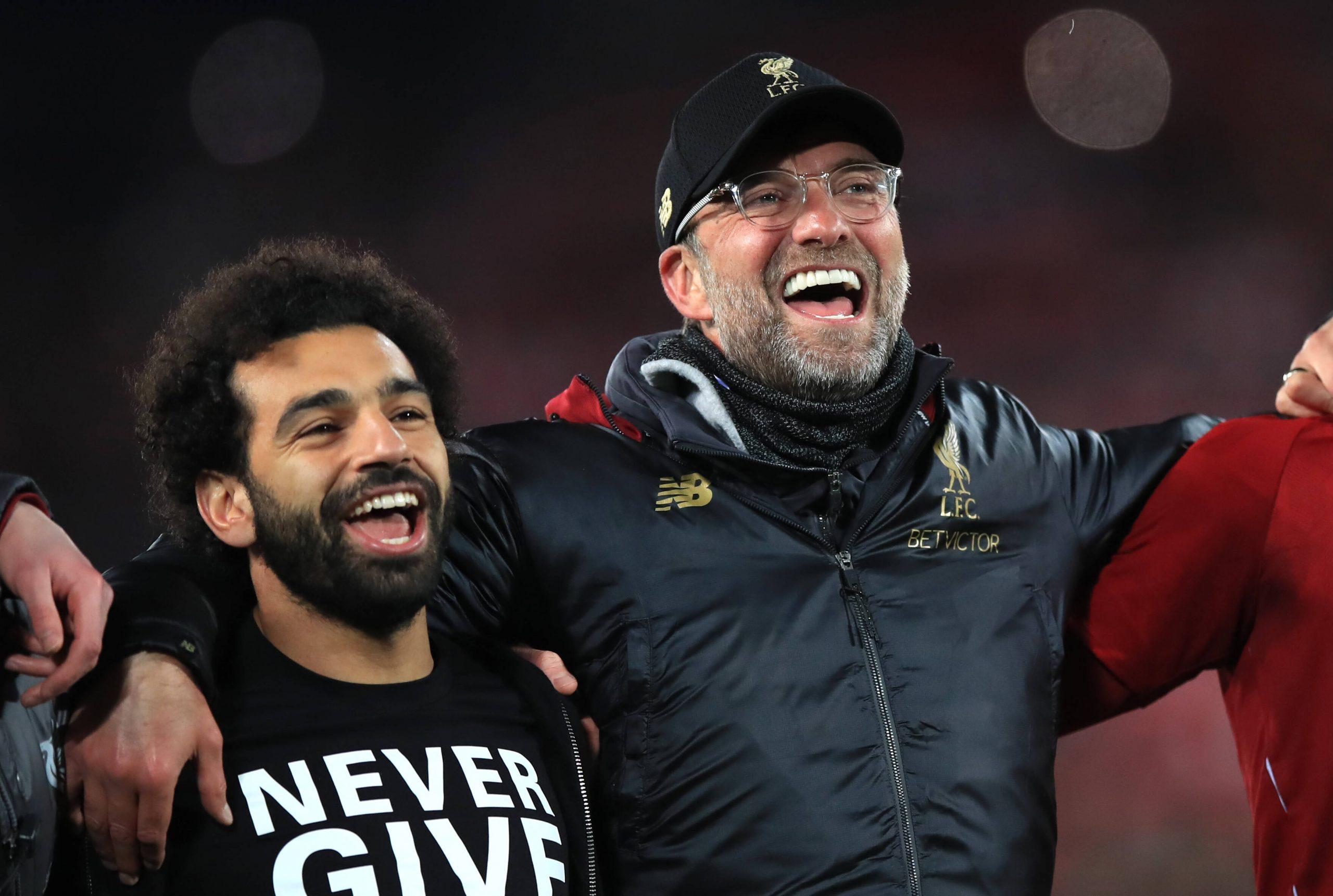 Mo Salah et Jürgen Klopp à Liverpool
